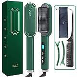 Ionen Glättbürste, VKK Haarglätter Bürste Upgrade Ionen Haarpflege, 25s Schnelle Erwärmung, 9 Einstellbare Temperatur, PTC Keramikheizung, Anti Verbrühen...