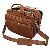 STILORD 'Alexander' Lehrertasche Herren Leder Vintage Aktentasche Laptoptasche Bürotasche Businesstasche groß XXL Umhängetasche mit Dreifachtrenner,...