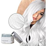 Styling Haarwachs für Männer und Frauen Temporäre Haarcreme 9 Farben optional Einwegfärbe Haarcreme Stylingcreme (Weiß)