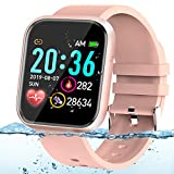 Adhope Smartwatch für Damen Sportuhr Fitness Armbanduhr Bluetooth 1.3 Zoll Voll Touchscreen Smartwatch Wasserdicht mit Pulsmesser Schlafmonitor...