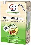 CD Festes Shampoo Avocado- und Rizinus-Öl für geschädigtes & trockenes Haar, 75 g, nachhaltige Haarseife, pflegendes Haarshampoo ohne Mikroplastik, vegan