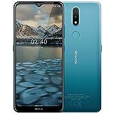 Nokia 2.4 Smartphone mit 6,5 Zoll HD+ Display, Portät- und Nachtmodus, Akku mit 2 Tage Laufzeit, Fingerabdrucksensor, robustes Design, Android 10 und...