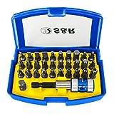 S&R Bit Set 32-teilig mit Bithalter in Handlicher Box, Schrauber Bit Set für Akku-, Schlagschrauber und Bohrmaschine
