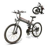 SAMEBIKE 26 Zoll Ebike Mountainbike, Faltbares Elektrisches Mountainbike für Erwachsene 500W 48V 10AH, Elektrische Fahrräder Herren Damen I Shimano 7...