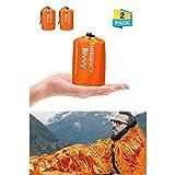 Charminer Notfallzelt,Biwaksack Survival Schlafsack warm Outdoor Tube Zelt wasserdicht leicht hitzeabweisend Kälteschutz Ultraleicht Rettungszelt für Camping...