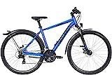 ZEG Bulls Wildcross Street Herrenfahrrad Crossbike MTB 21 Gang 2020, Rahmenhöhe:54 cm, Farbe:blau