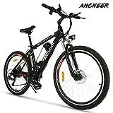 ANCHEER Elektrofahrrad Ebike Mountainbike, 26'/27.5' Elektrisches Fahrrad mit 36V 8Ah/10Ah/12Ah Lithium-Batterie und Shimano 21-Gang (26' klassischer Ritter...