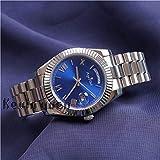 WAVFCSE Gelbgold Rose Uhr Männer Frauen Luxusuhr Day-Date Präsident Mechanische Automatikuhren Mechanische Roma Schwarzes Zifferblatt Silber Blau