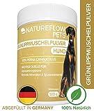 Natürliches Grünlippmuschelpulver Hund - 500g Grünlippmuschel für Hunde zur Unterstützung der Gelenkfunktionen - Grünlippmuschelextrakt mit Hoher...