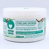 Afro Love Curling Puree 235g – Lockencreme Ohne Silikone, Parabene und Mineralöle, Lockenpflege Mit Kokosnussöl, Sheabutter und Aloe Vera