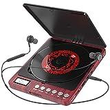 Tragbarer CD Player, Persönlicher Wiederaufladbar MP3 CD Player mit Doppelte 3.5mm Kopfhörern Buchse Disc Walkman mit stoßfester Schutz Für zu Hause, im...