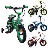 AMIGO BMX Turbo - Kinderfahrrad - 12 Zoll - Jungen - mit Rücktritt und Stützräder - ab 3 Jahre - Grün