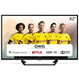 CHiQ L42G6F | TV 42 Zoll Full Hd Smart TV (105cm) Fernseher Rahmenlos Android TV Smart TV/Android 9.0-Google Assistent/Sprachsuche-2K FHD(1920*1080) |...