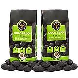Grill Republic Kokos Briketts Grillbriketts Kokoskohlen für Den Kugel- und Standgrill   Nachhaltig, Hoher Heizwert und 3X Längere Brenndauer   17kg