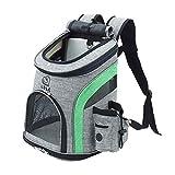 REAYOU Haustier Reise Rucksack Haustier Rucksäcke haustiertragetasche Atmungsaktive Outdoor Faltbarer für Hunde und Katzen (Green) für Hunde bis 5 kg