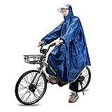 MAGARROW Outdoor Regenponcho Wasserdichter Leichter Regenmantel Poncho mit Verstellbarer Kapuze Regencape Regenjacke für Herren Damen Outdoor Radfahren Wandern...