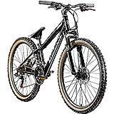 Galano Dirtbike 26 Zoll MTB G600 Mountainbike Fahrrad 18 Gang Dirt Bike Rad (schwarz/Silbergrau, 33 cm)