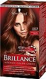 Brillance Intensiv-Color-Creme 867 Mahagoni-Braun Stufe 3, 3er Pack (3 x 143 ml)
