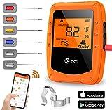 Te-Rich Wireless Grillthermometer Smart Küchenthermometer Fleischthermometer Bratenthermometer Kochthermometer für Ofen, Grill, Smoker, mit LCD Display und...