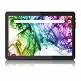 Tablet 10 Zoll Android 8.1 Tablet PC mit Zwei Simkarten Slot, Quad-Core, 1280x800 HD IPS, 16GB Speicher, 6000Amh, Dual-Kamera, WiFi/ GPS/ Bluetooth (Schwarz)