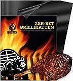 BBQ Grillmatte 2er-Set von Mountain Grillers - Antihaft Feuerfeste Backmatte für Gasgrill und Holzkohlegrill - wiederverwendbares Grillzubehör - Pflegeleicht...