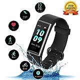 Kungix Fitness Armband, IP68 Wasserdichtes Fitness Tracker, Fitness Uhr mit Pulsmesser, Schlafüberwachung, Schrittzähler, Activity Tracker Uhr mit 14...