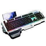 RedThunder K900 Halbmechanisch Gaming Tastatur [Version 2021], QWERTZ DEUTSCH Layout, RGB Beleuchtete Tastatur, Ganzmetallpaneel, 25 Tasten Anti-Ghosting,...