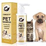 CBROSEY Flohshampoo,Anti Floh Shampoo Für Hunde,Anti Zecken Shampoo für Hunde,Zecken Floh Parasiten Shampoo,Zeckenfrei Shampoo Juckreiz Shampoo für Haustiere...