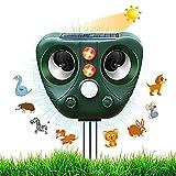 Neu Katzenschreck,Ultraschall Abwehr mit Solarbetrieb und Blitz gegen Katzen, Hunde, Marder, Tierabwehr, Katzenschreck Hundeschreck Marderschreck, 5 Modus,...