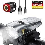 LIFEBEE Neueste Modell LED Fahrradlicht Set, StVZO Zugelassen USB Fahrradbeleuchtung Aufladbar Fahrradlampe, Wasserdicht Fahrradlichter Vorne Akku...