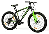 Milord. MTB - Mountain Bike Rahmen - Fahrrad - Thunder - 21 Gang - Schwarz Grün - 26 Zoll