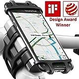 ANCwear Handyhalterung Fahrrad Universal Motorrad, Mountainbike, 4-in-1 Hochfestem Silikon Handyhalter Fahrrad Lenkerhalterung für iPhone XS Max/ 8/7/6 Plus,...