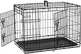 AmazonBasics Hundekäfig mit 2 Türen, Metall, zusammenklappbar, Gr. 76 cm