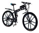 26 Zoll Mountainbike Faltrad für Erwachsene 27-Gang-Doppelscheibenbremse Volle Federung Anti-Rutsch,Leichter Rahmen Mit Fahrradtasche Geeignet für...
