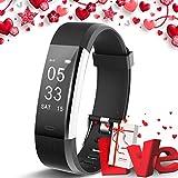 Lintelek Fitness Armband Fitness Smartwatch wasserdichter IP67-Schrittzähler Aktivitäts-Tracker für Herzfrequenzmonitor mit angeschlossenem GPS-Tracker,...