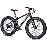CHRISSON 26 Zoll Fatbike Mountainbike Fahrrad - Fat ONE - Hardtail Fat Tyre Mountain Bike - MTB mit 4.0 fette Reifen und 8G Shimano Schaltung und Zwei...