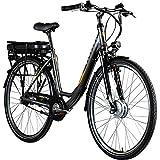 Zündapp E-Bike 700c Damenrad Pedelec 28 Zoll Z502 E Citybike Hollandrad Fahrrad (grau/orange ohne Korb)