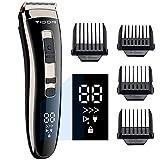 Haarschneidemaschine Profi Haarschneider Herren Elektrisch Haartrimmer, Geschenke für Männer,LED-Anzeige,3-Gang Einstellbar,Präzisionstrimmer...