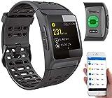 Newgen Medicals Smartwatch GPS Puls: GPS-Sportuhr, Bluetooth, Fitness, Puls, Nachrichten, Farbdisplay, IP68 (Fitnessuhren)