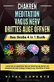 CHAKREN | MEDITATION | VAGUS NERV | DRITTES AUGE ÖFFNEN - Das Große 4 in 1 Buch: Lernen Sie die spannende Welt der Selbstheilung kennen und verspüren Sie...