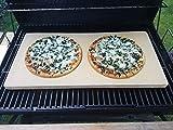 Bearbeitete Pizzaplatte 60 x 30 x 3 cm Backofenplatte Brotbackplatte Pizzastein Brotbackplatte Pizzastein Flammkuchen Nachbearbeitet per Hand ohne scharfe...