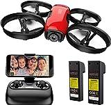 SANROCK U61W Drohne für Kinder, RC Quadcopter mit HD WiFi FPV Kamera, Unterstützt Höhe halten, Routenerstellung, Headless-Modus, EIN-Knopf Start / Landung,...
