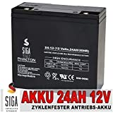 Akku 12V 24AH AGM Gel Batterie Antriebsbatterie Golf Trolley Caddy Scooter 20Ah 2HR