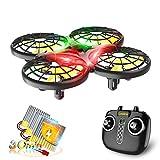 Loolinn | Drohne für Kinder - Mini Drohne, RC Quadrocopter mit Antikollisionstechnologie / 360° Flips / Handgesteuerter Modus / 30 Minuten Flugzeit ( DREI...