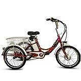 Elektro-Dreirad 20' Lithium Battery Booster Adult Tricycle 3-Räder Trike Elektrisches Fahrrad Mit LED-Licht 10AH Reisen 20Km