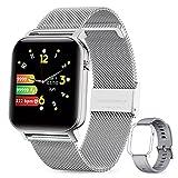 GOKOO Smartwatch Herren Damen Uhr 1.4inch Zoll IPS HD-Touchscreen Fitness Tracker IP68 Wasserdicht SpO2 Stoppuhr schrittzähler Armbanduhr mit Schlafmonitor...