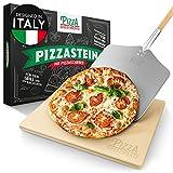 Pizza Divertimento Pizzastein für Backofen und Gasgrill – Mit Pizzaschieber – Pizza Stein aus Cordierit – Pizza Stone für knuspriger Boden & saftiger...