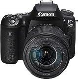 Canon EOS 90D Spiegelreflexkamera (32,5 MP, 7,7 cm (3 Zoll) Vari-Angle Touch LCD, APS-C Sensor, 4K, Full-HD, WLAN, Bluetooth) mit Objektiv EF-S 18-135mm...