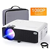 Beamer APEMAN Mini Beamer 1080P Full HD Video Projiziert mit Tasche Geräuscharm Projektor LED 50000 Stunden Heimkino HDMI/TF/USB iOS/Android Laptop/TV Box...
