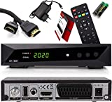 Opticum SBOX HDTV Sat-Receiver, Mediaplayer, 1080P Full-HD Digital Mini TV-Receiver für Satelliten, HDMI, SCART, UNICABLE, COAXIAL, USB 2.0, DVB-S DVB-S2...